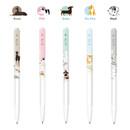 Composition - MONAMI 153 puppy knock retractable ballpoint pen set