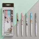 MONAMI 153 puppy knock retractable ballpoint pen set
