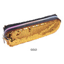 Gold - 2young Shiny spangle zipper pencil case pouch