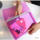 Purple - Seeso Neon A5 clear file folder pouch