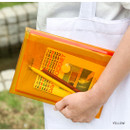 Yellow - Seeso Neon A5 clear file folder pouch