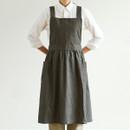 Dailylike Shadow gray frill linen cross back apron
