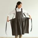 Example of use - Dailylike Shadow gray frill linen cross back apron