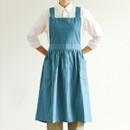 Dailylike Midnight blue frill linen cross back apron