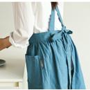 Example of use - Dailylike Midnight blue frill linen cross back apron