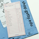Example of use - Dailylike Checklist two way memo writing notepad