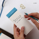 10 Grid - Wanna This Seize the day basic memo notepad