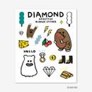 Diamond - Gunmangzeung Ghost pop murmur sticker set