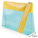 Size - Rihoon Neon laundry large clear zipper pouch with strap