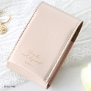 Beige pink - ICONIC Slit lipstick cosmetic pouch case with mirror