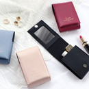 ICONIC Slit lipstick cosmetic pouch case with mirror
