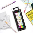 Example of use - MONAMI 153 travel knock retractable ballpoint pen set