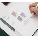 Lined note - Indigo Official dateless weekly planner notebook