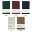 Color - Indigo Official slim dateless weekly planner notebook