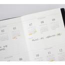 Quarterly plan - Indigo Official slim dateless weekly planner notebook