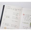 Weekly plan - Indigo Official slim dateless weekly planner notebook