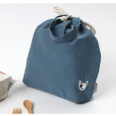 Bauwow - Wanna This Tailorbird embroidered medium drawstring pouch