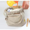 Corn - Wanna This Tailorbird embroidered medium drawstring pouch