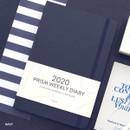 Navy - Indigo 2020 Prism dated weekly planner notebook