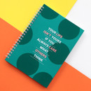 Green - Indigo Color pop spiral bound dateless weekly planner