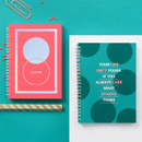 Indigo Color pop spiral bound dateless weekly planner