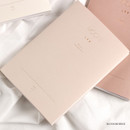 Blossom beige - Dash and Dot 2020 Moon large dated weekly diary ver7