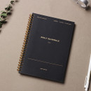 Classic black - 6 months spiral undated daily planner ver5