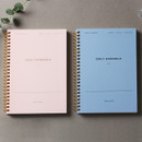 Dash and Dot P&B 6 months spiral undated daily planner ver5