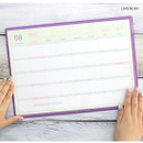 Lavender - PLEPLE 2020 Desk mat with dated monthly planner