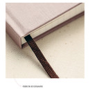 Ribbon bookmark -Livework Korean poetry large hardcover lined grid notebook