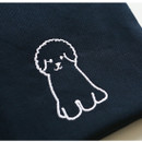 Cute pouch - Dailylike Embroidery rectangle fabric zipper pouch - Bichon