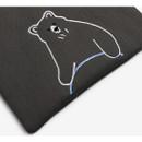 Cute pouch - Dailylike Embroidery rectangle fabric zipper pouch - Hula hoop bear
