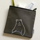 Usage example - Dailylike Embroidery rectangle fabric zipper pouch - Hula hoop bear