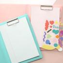 PLEPLE Memo days A5 size foldover clipboard set