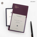 Burgundy - ICONIC 2020 Simple small dated weekly planner scheduler