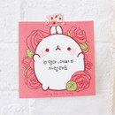 Usage example - Bookcodi Blooming day with Molang cute memo notepad