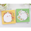 Sunflower, Daisy - Bookcodi Blooming day with Molang cute memo notepad