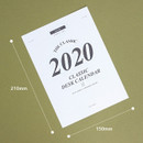 Size - Wanna This 2020 Classic monthly calendar sheets