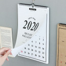 Usage example - Wanna This 2020 Classic spiral bound wall calendar