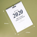 Size - Wanna This 2020 Classic spiral bound wall calendar