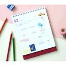 Usage example - Jam studio 2020 Welcome standing desk flip calendar