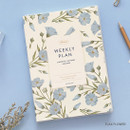 Flax flower - PAPERIAN Florence dateless weekly diary agenda planner