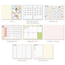Planner section - PAPERIAN Colorful 2020 dated weekly planner scheduler