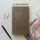 Warm brown - Jam Studio 2020 One fine day dated weekly planner scheduler