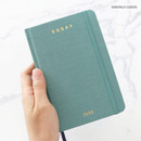 Emerald green - PAPERIAN 2020 Essay A6 hardcover dated weekly agenda planner