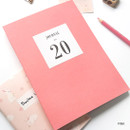 Pink - O-CHECK 2020 Simple and basic A5 dated weekly planner