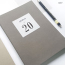 Gray - O-CHECK 2020 Simple and basic A5 dated weekly planner