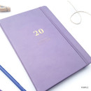 Purple - O-CHECK 2020 Mon journal A5 dated weekly agenda planner