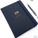 Navy - O-CHECK 2020 Mon journal A5 dated weekly agenda planner