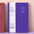 Ultra violet - Ardium 2020 Basic dated weekly diary planner